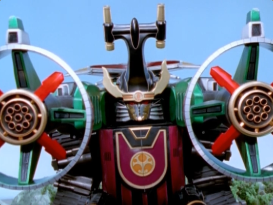 The Samurai Thunder Megazord's gonna get scoliosis hauling around those giant cannons.
